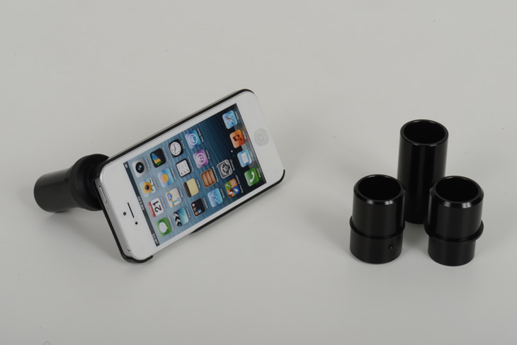 iPhone photo adaptor for slit lamp